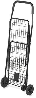Honey-Can-Do CRT-01511 Medium Folding Shopping Cart Rolling 4-Wheel Utility Wagon