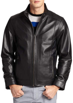 Saks Fifth Avenue Collection Lightweight Leather Bomber Jacket