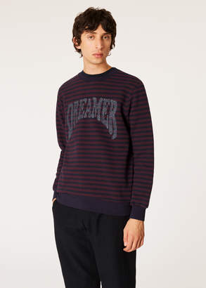 Paul Smith Men's Breton Stripe Sweatshirt With Glitter 'Dreamer' Embroidery