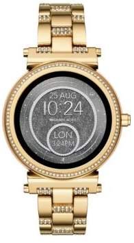 Michael Kors Sofie Goldtone Touchscreen Pave Bracelet Smartwatch