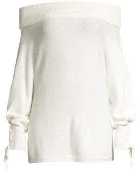 Alice + Olivia DH New York Lace Sleeve Convertible Sweater