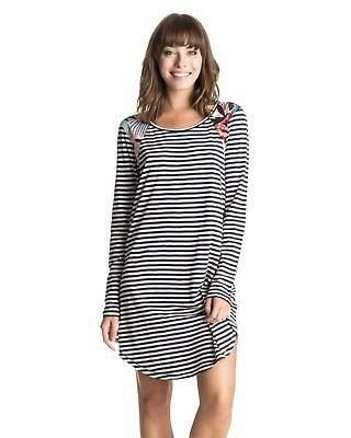 Roxy NEW ROXYTM Womens Coconut Telegraph Long Sleeve Dress Womens Summerwear