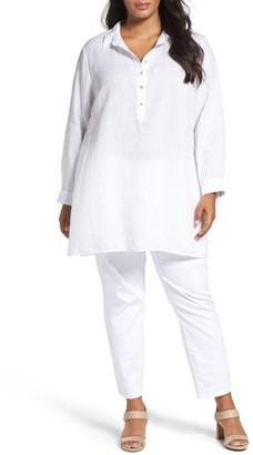 Eileen Fisher Organic Linen Tunic Shirt (Plus Size) $248 thestylecure.com