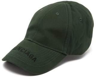 67470ec1 Balenciaga Embroidered Logo Baseball Cap - Mens - Green