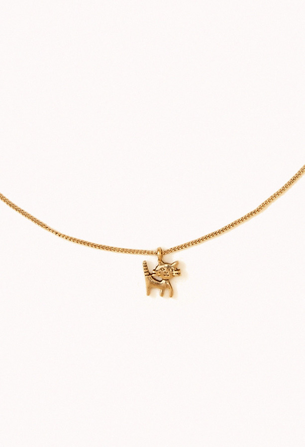 Forever 21 Cat Charm Necklace
