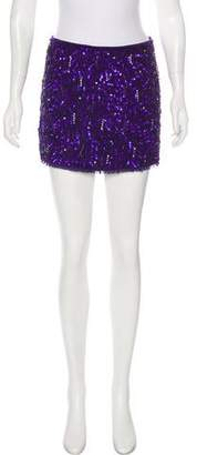 Alice + Olivia Silk Embellished Skirt