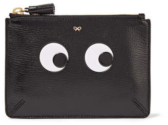 Anya Hindmarch Loose Pocket Embossed Textured-leather Pouch - Black