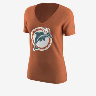 Nike Mid-V Alternate Logo (NFL Dolphins) Women's T-Shirt