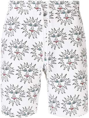 Soulland Alexander embroidered relaxed shorts