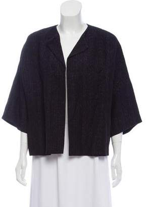 Dries Van Noten Silk & Linen Blend Open Front Blazer