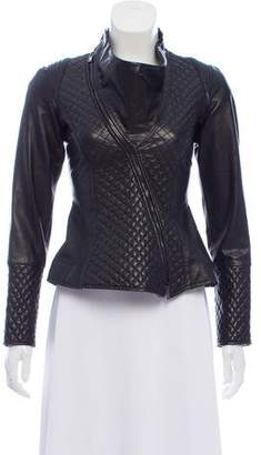 Emporio Armani Quilted Leather Jacket
