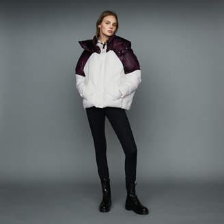 Maje Cropped bicolor down jacket