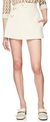 Valentino Women's V-Ornament Silk-Wool Skort - Ivorybone