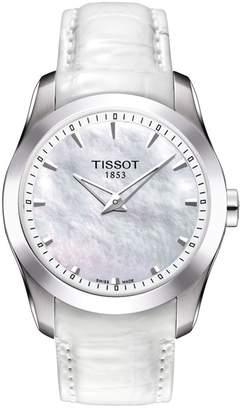 Tissot Women's Couturier Secret Date Lady Leather Strap Watch, 33mm
