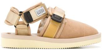 Suicoke shearling touch strap sandals