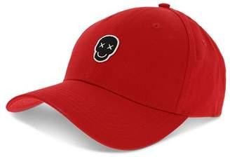 The Kooples Happy Skull Cotton Baseball Cap