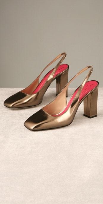 Kate Spade Shoes Tabitha Metallic Sling Back Pump