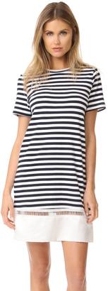 Clu Contrast Bottom Stripe Dress $280 thestylecure.com