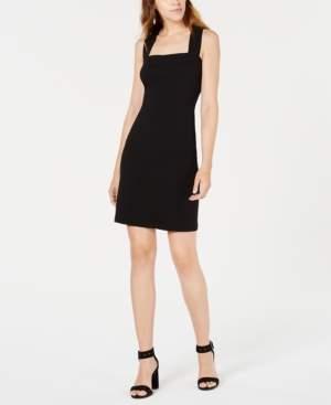 Bar III Square-Neck Crisscross-Back Dress, Created for Macy's