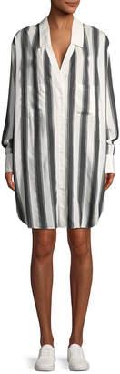 KENDALL + KYLIE Kendall+Kylie Oversized Striped Shirtdress