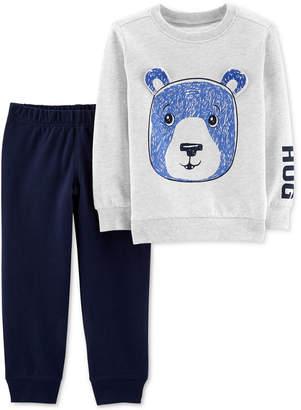 Carter's Toddler Boys 2-Pc. Bear Graphic Cotton Sweatshirt & Joggers Set