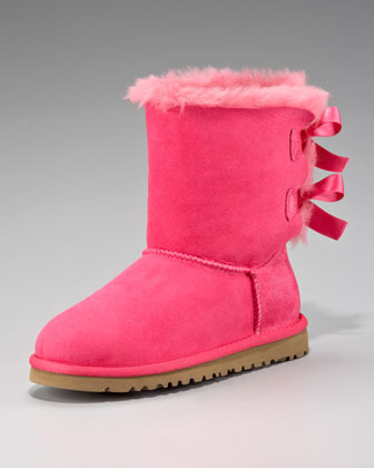 UGG Pink Bailey Bow-Back Boot, Youth