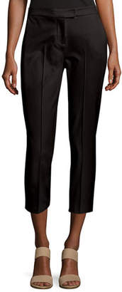 Misook Stretch-Cotton Cropped Pants, Petite
