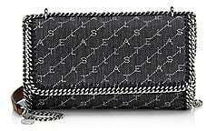 Stella McCartney Women's Falabella Monogram Denim Crossbody Bag