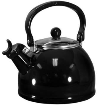 Calypso Basics, Whistling Teakettle w/ Glass Lid, Black