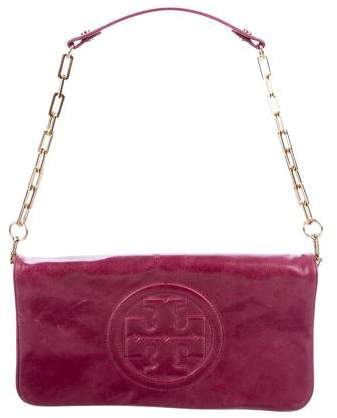 Tory Burch Leather Reva Clutch - PINK - STYLE