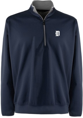 Antigua Men's Detroit Tigers 1/4-Zip Leader Pullover