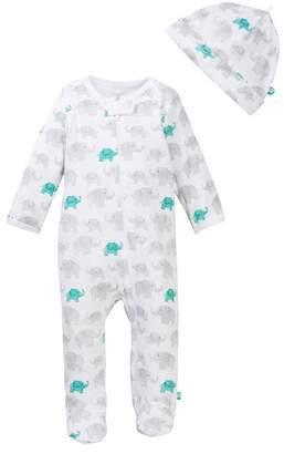 Offspring Elephant Footie & Hat Set (Baby Boys)