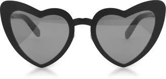 Saint Laurent SL 196 Loulou Heart Metal Frame Sunglasses