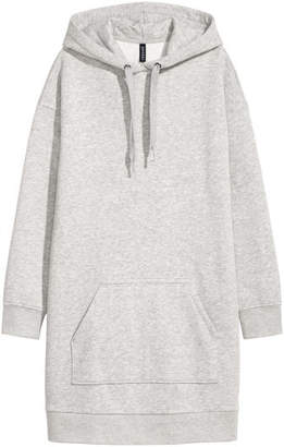 H&M Hooded Sweatshirt Dress - Gray