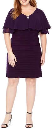 Scarlett Chiffon Top Sheath Dress - Plus