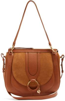 See by Chloe Hana suede and leather satchel cross-body bag