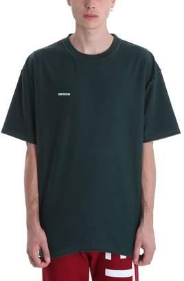 Vetements Inside-out Green Cotton T-shirt