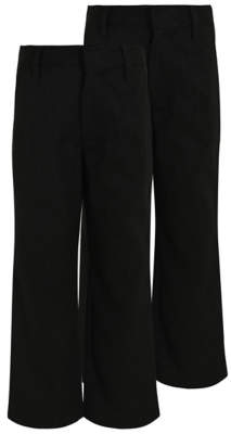 George Boys Charcoal Longer Length School Trouser 2 Pack