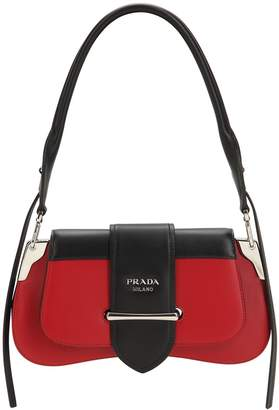 Prada Cahier Sella City Leather Shoulder Bag