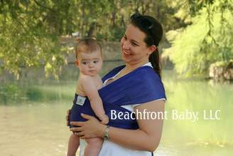 Beachfront Baby Wrap – The Original Water & Warm Weather Baby Carrier | Made in USA with Safety Tested Fabric, CPSIA & ASTM Compliant | Lightweight, Quick Dry & Breathable ,)