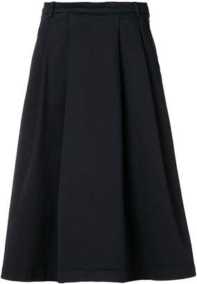 YMC pleated fitted waist skirt