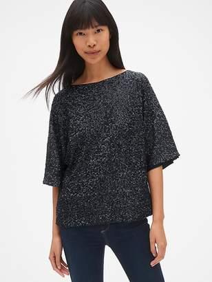 Gap Sequin Kimono Sleeve Top