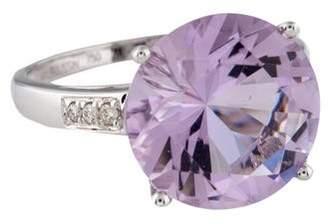 Mauboussin 18K Amethyst & Diamond Bébé D'Amour Ring
