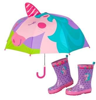 Stephen Joseph Unicorn Rain Boots & Umbrella Set
