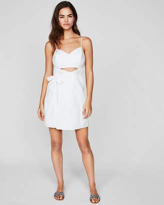 Express Cut-Out Faux Wrap Mini Dress