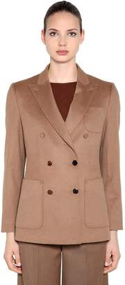 Max Mara ULNA DOUBLE BREASTED CAMEL WOOL BLAZER