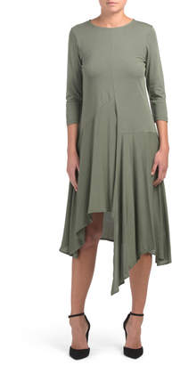 Made In Italy Asymmetrical Hem Knit Dress