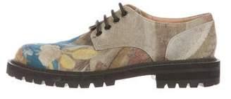 Dries Van Noten Floral Derby Shoes