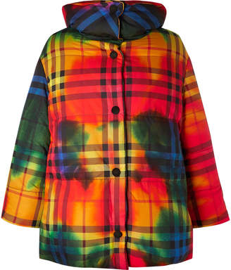 Burberry Oversized Checked Cotton Down Jacket