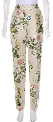Calvin Klein High-Rise Embroidered Pants Beige High-Rise Embroidered Pants
